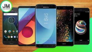 Los 5 mejores móviles Gama Media alta del 2017