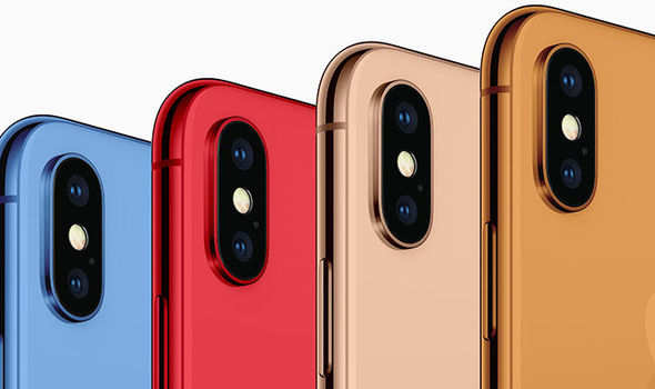 iphone x de colores