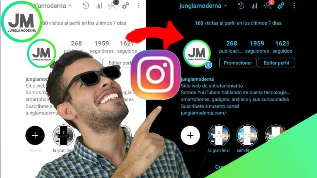 Activa el modo nocturno Instagram en 2019